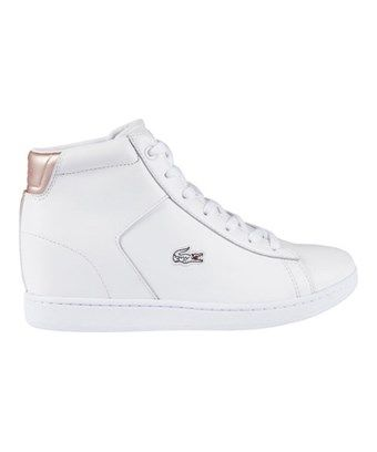 aace39fe51 LACOSTE LACOSTE WOMEN'S CARNABY EVO WEDGE 3 HIGH TOP. #lacoste #shoes #