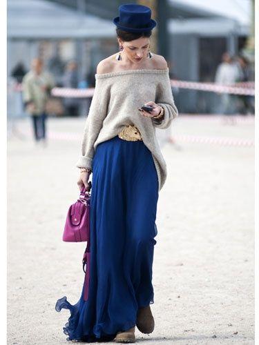 street : Paris Fashion Week Spring 2013 - Semana de la Moda Primavera Street Style - Marie Claire