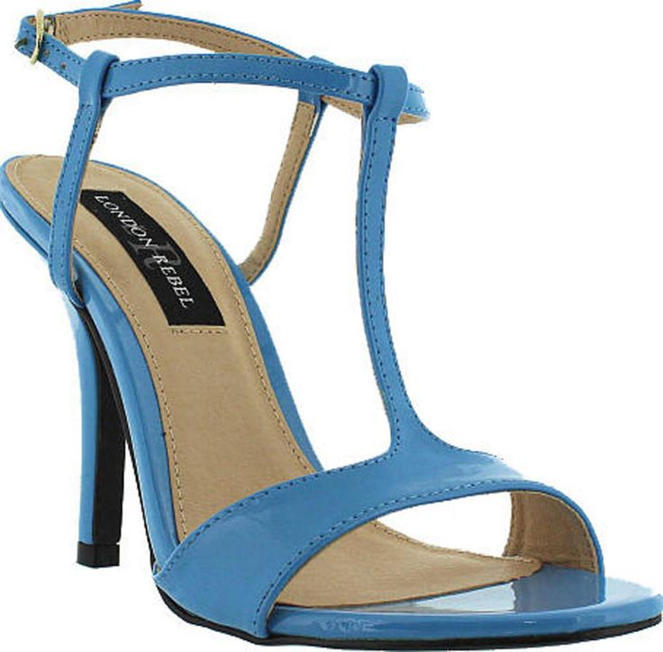 London Rebel COMPASS in Sky Blue Patent