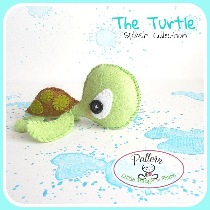 The Turtle PDF pattern-Sea animals toy-DIY-Nursery decor-Instant download-Baby's mobile toy-Cute Sea turtle toy-Felt turtle ornament di LittleThingsToShare su Etsy https://www.etsy.com/it/listing/233747159/the-turtle-pdf-pattern-sea-animals-toy