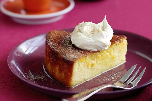 ... in this Middle Eastern style cake topped with thick spiced cream