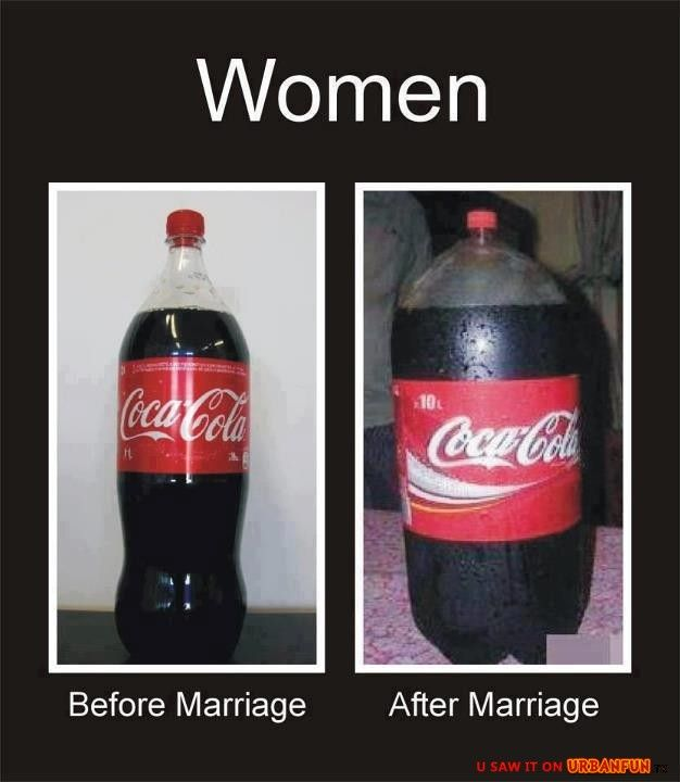Women: before marriage vs. after marriage  »  http://urbanfun.tk/gag/1469