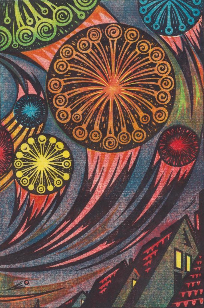 Gary Ratushniak ~ In full splendor (linocut)