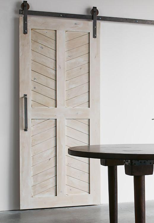 White Shanty - 4-Panel Chevron Barn Door