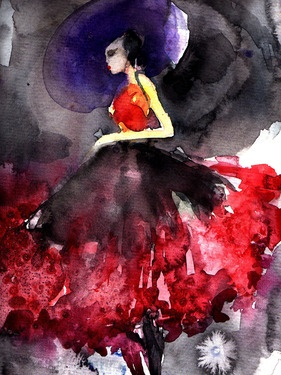 "Saatchi Online Artist Sylvia Baldeva; Digital, ""Purple hat"" #art"