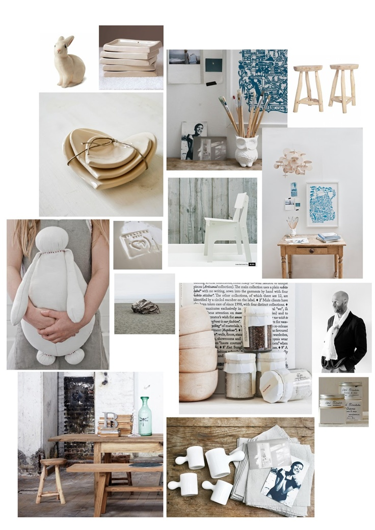 Wood White Linen Mood Board