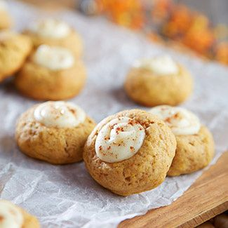 Pumpkin Spice Latte Thumbprint Cookies