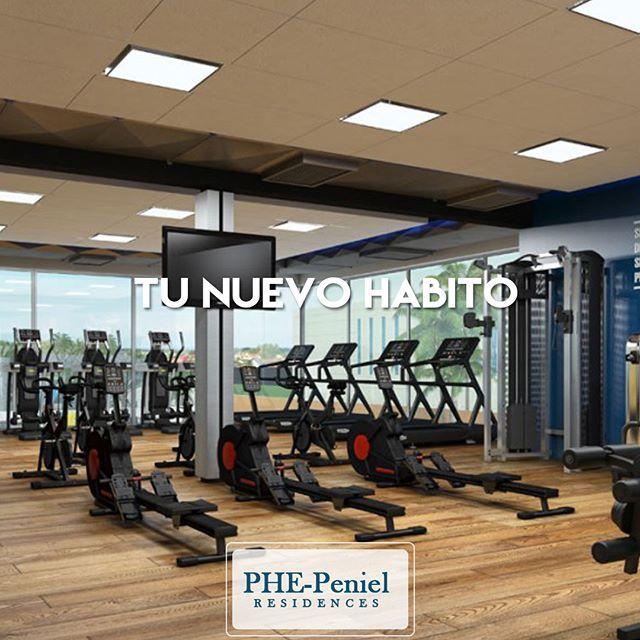 Tener un gimnasio cerca es bueno, pero vivir con un gimnasio en tu hogar es todavía mejor. __________________________________________________ Gimnasio está totalmente equipado con pesas libres, máquinas de cardio y lócker | Conoce PHE-Peniel Residences  Llámanos ☎️809-231-2484 📱829-994-6531 __________________________________________________ #ApartamentosRD #BienesRaices #RealEstate #apartamentossantodomingo