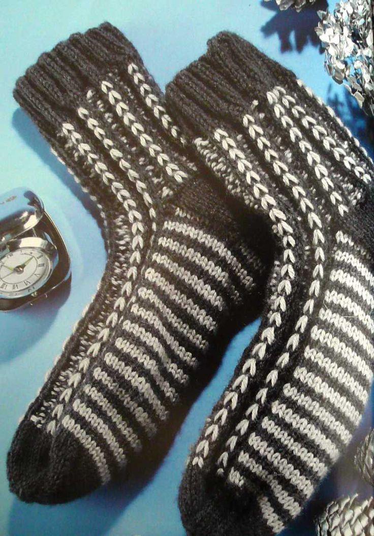 носки для мужчин спицами