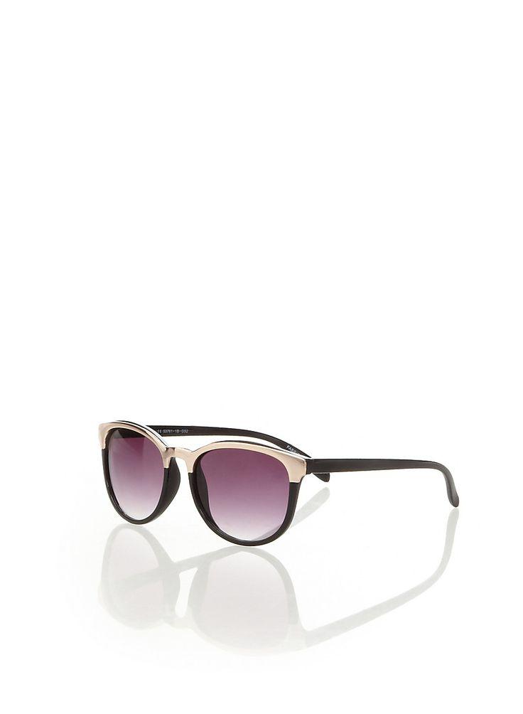 Rainbow Shops Wayfarer Sunglasses with Gold Metallic Trim $3.99