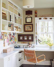 pretty corner office / martha stewart living.