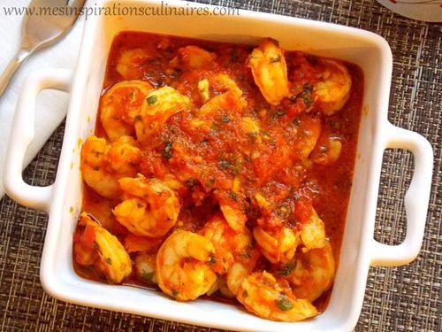 crevettes en sauce tomate recette marocaine au curcuma et cumin