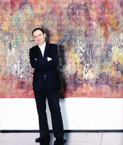 Carlos Salas Silva, pintor abstracto - Foto: Gustavo Martinez