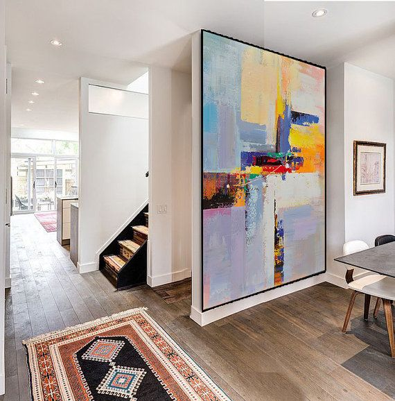 Handmade Extra Large Contemporary Painting from CZ ART DESIGN @CelineZiangArt