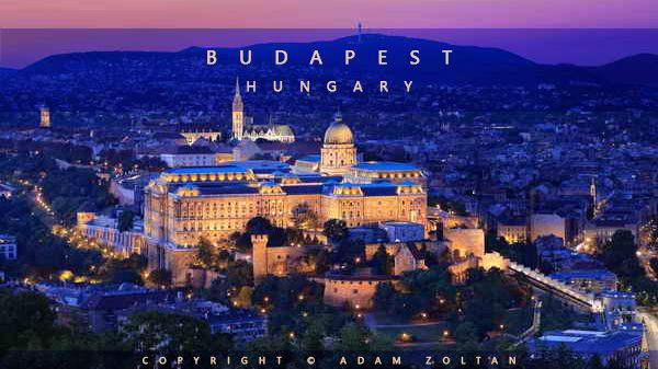 One of the famous tourist attraction in Budapest, Hungary is The Royal Palace which especially beautiful in the evening when it is illuminated.
