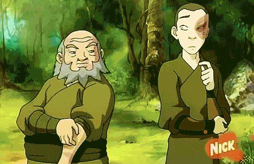 Iroh y Zuko tierra