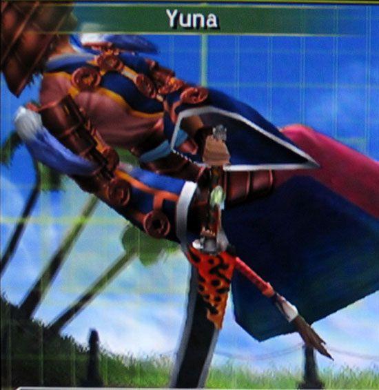 Yuna samurai dressphere in-game screenshot