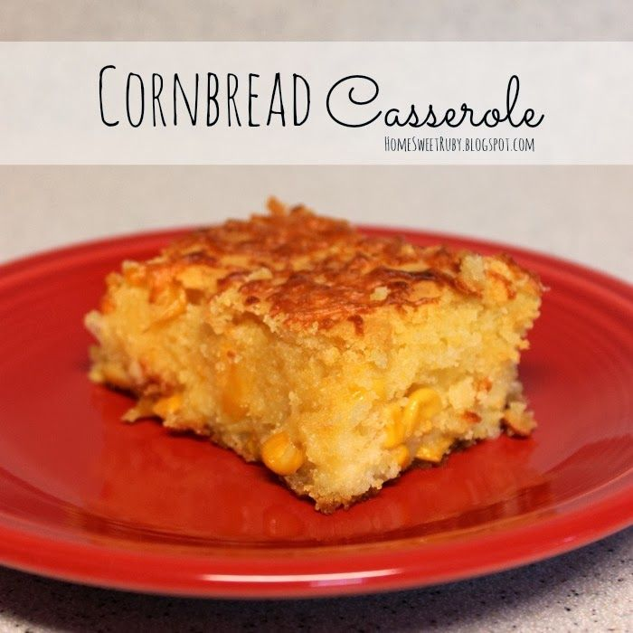 One of my favorite side dishes... Cornbread Casserole #Thanksgiving #recipe