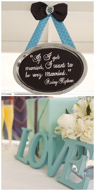brunch, breakfast at tiffanys, bridal shower, décor, Audrey quote, Popular with the Poplins