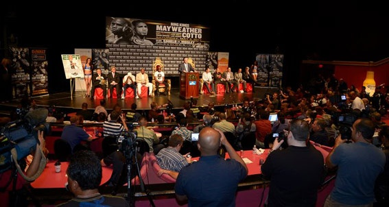 Mayweather vs Cotto Press Conference