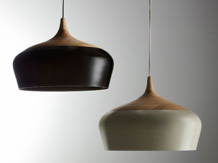 Coco Pendant by cocflip: Pendant lamp of Victorian ash and spun aluminum. #Lighting #Pendant_Lamp #cocoflip