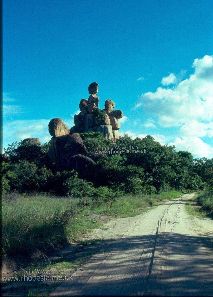 balancing rocks, Rhodesia (now Zimbabwe)