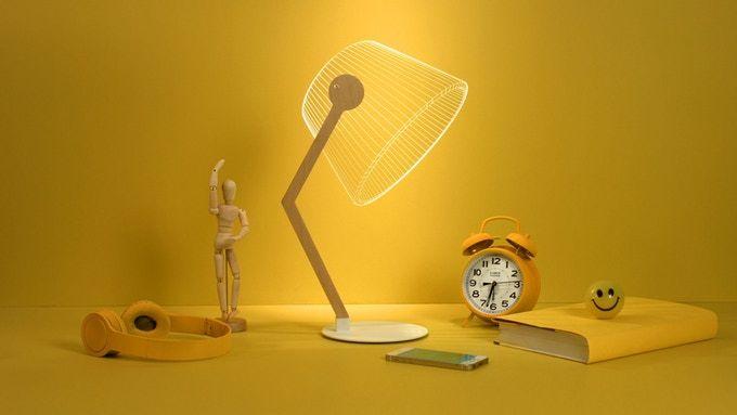 Bulbing Lampe Zeigt Einen 3d Effekt Obwohl Sie Nur Eine 2d Lampe Ist Kickstarter Wohnen Wohnzimmer Lampe Lampenkap Optische Illusies Lampen