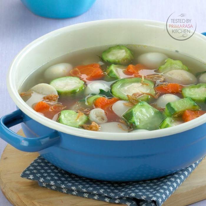 Sup Oyong Telur Puyuh Makanan Resep Sup Telur