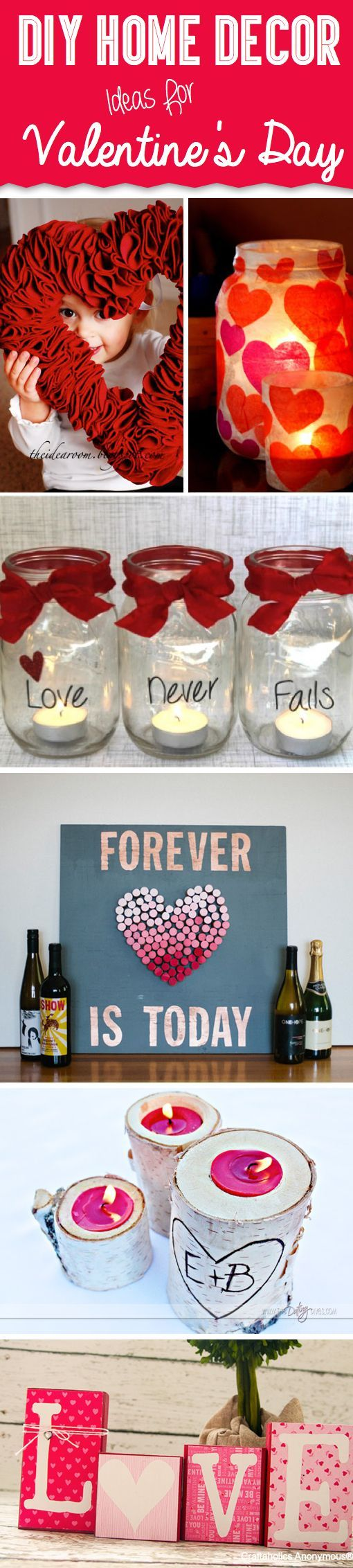 DIY Home Decor Ideas For Valentine's Day to use with Candle Impressions Flameless LED Candles.