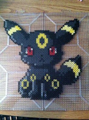 Umbreon Pokemon Perler by Khoriana on DeviantArt
