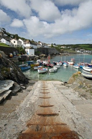 Coverack, United Kingdom (boat launching ramp harbour cornwall) - a photo by Bill E