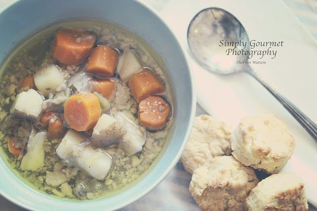 Simply Gourmet: 16. Bone Marrow Soup and Biscuits