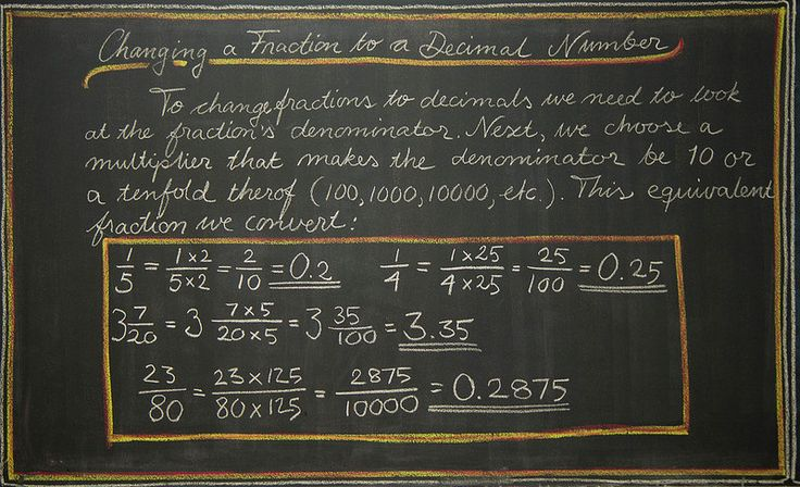 how to turn a decimal into a fraction 5th grade