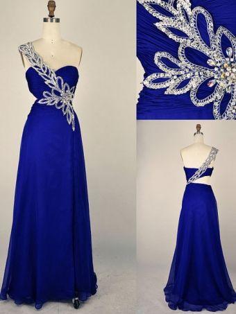 Blue Prom Dress/Evening Dress  #prom #dress #evening #promdress $189