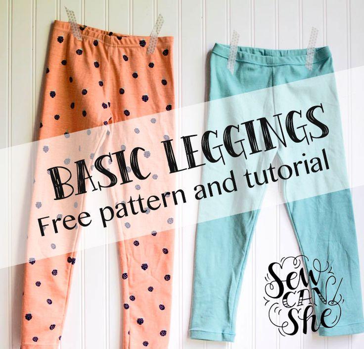 Basic Leggings for Girls - Free Pattern and Tutorial! | She Sews! | Bloglovin