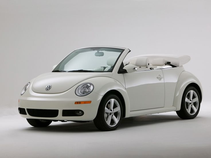 2007 Volkswagen New Beetle Convertible Triple White Special Edition - Side Angle Top Up - 1280x960 - Wallpaper
