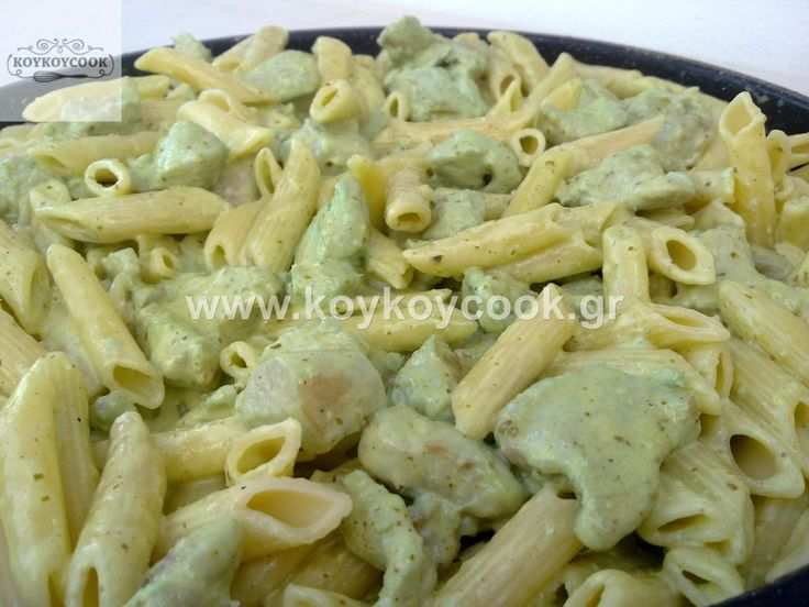 CHICKEN WITH PENNE & PESTO