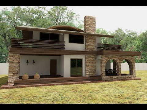 House plans with images and 3d elevations. Artlantis render. House CA10
