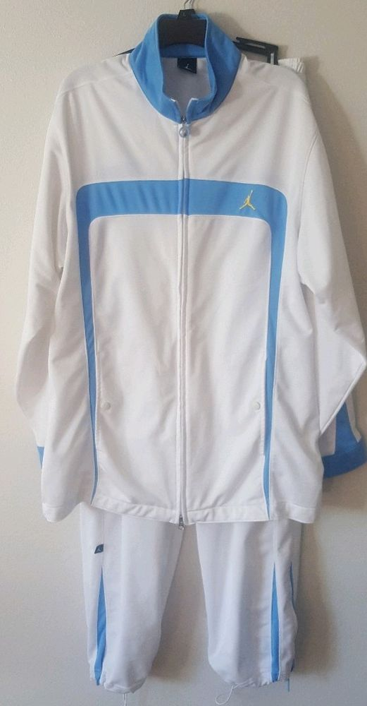 ffb36ff5c379 Michael Jordan Mens Track Suit White Baby Blue XL Jacket XXL Pants   MichaelJordan