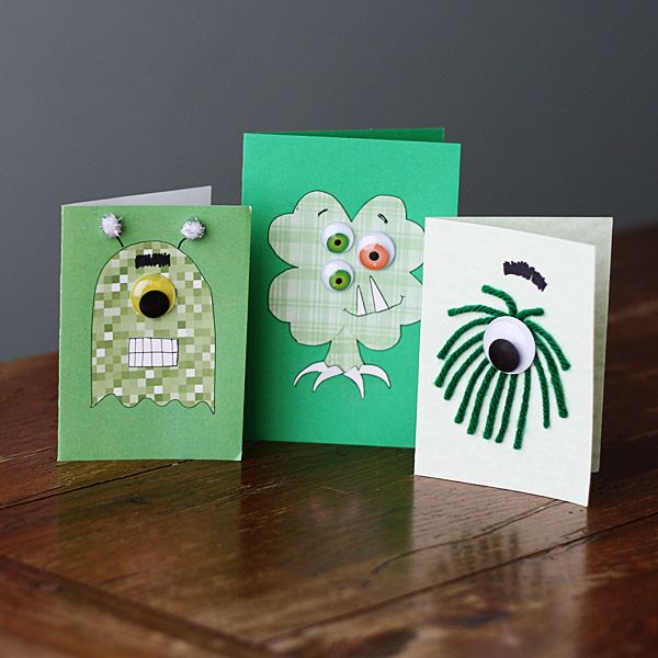 Monster Cards for St. Patrick's Day - Crafts by Amanda