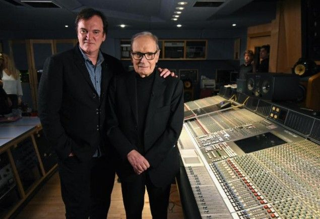 Ennio Morricone & Quentin Tarantino Together At Abbey Road To Launch The Hateful Eight SoundtrackWithGuitars