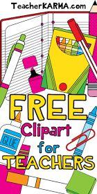 FREE Clipart for Teachers  TeacherKARMA.com