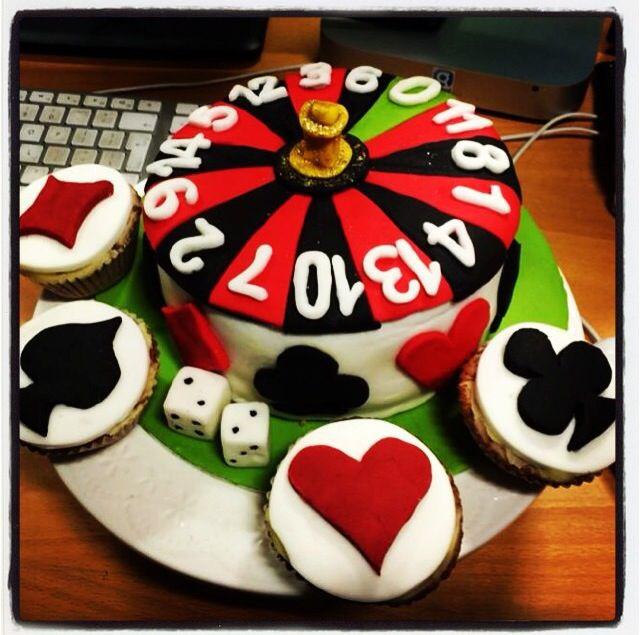 Casino / roulette wheel birthday cake