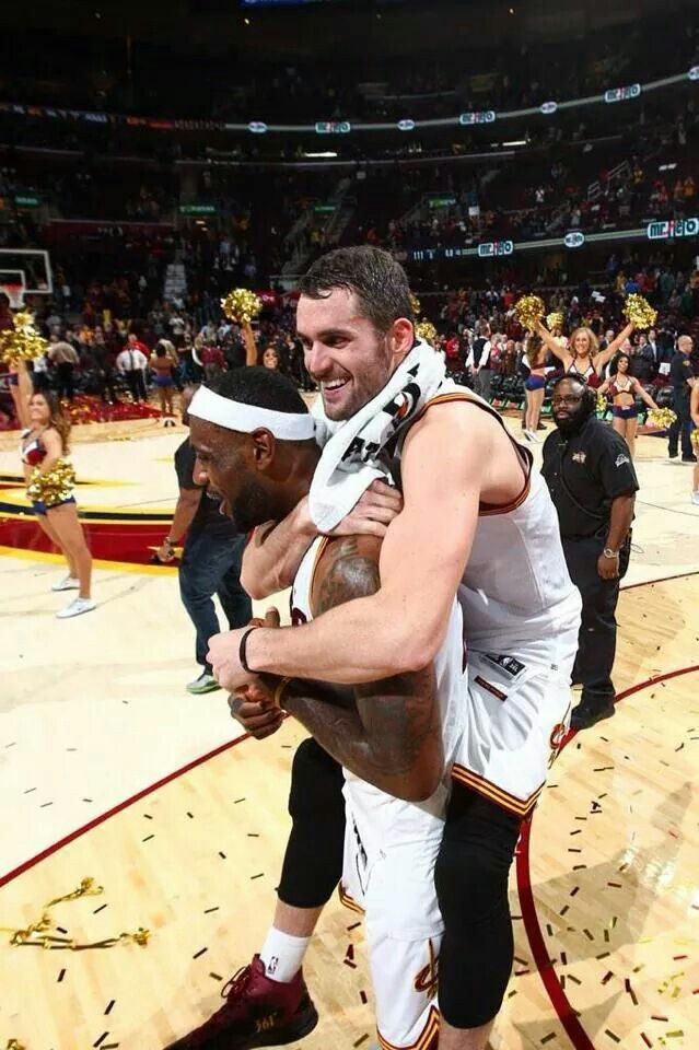 King James and Kevin Love