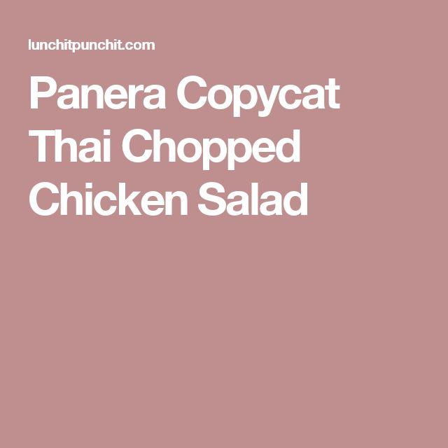 Panera Copycat Thai Chopped Chicken Salad