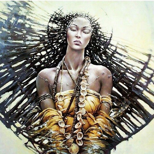 Oxum é uma orixá, é a rainha da água doce, dona dos rios e cachoeiras, cultuada no candomblé e também na umbanda, religiões de origem africana.Oxum é a segunda esposa de Xangô e representa a sabedoria e o poder feminino. Além disso, é vista como deusa do ouro e do jogo de búzios. É a deusa do rio Oxum (ou Osun) que fica no continente africano, mais concretamente no Sudoeste da Nigéria.O arquétipo de Oxum é de uma mulher graciosa e elegante, que tem predileção por joias, perfumes e roupas.