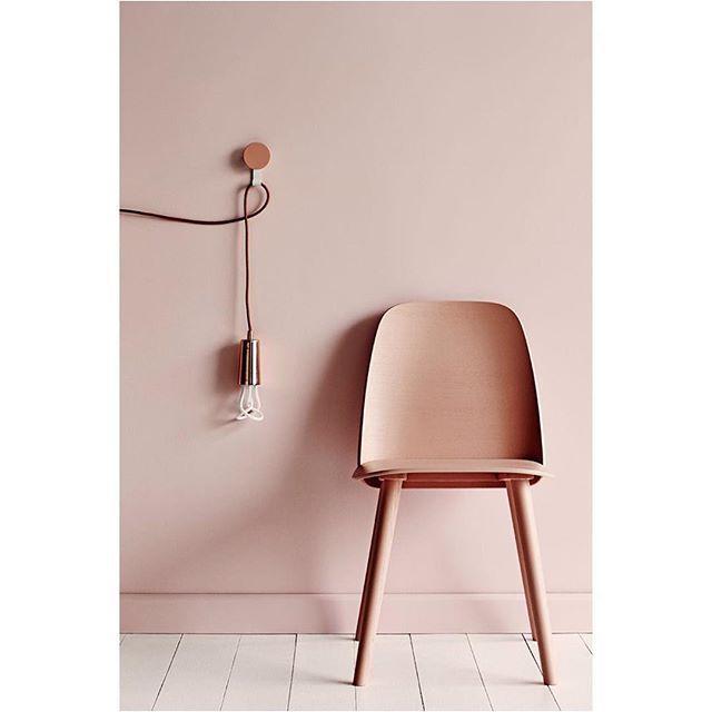 The NERD chair styled by @heathernetteking #dustyrose #rose #dustypink #chair #nerdchair #muuto #muutodesign #scandinaviandesign #newperspective