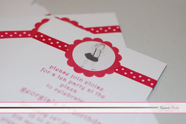 Eloise Party Theme      Girl Birthday Party Ideas           http://www.frostedevents.com