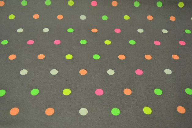 Stoff Punkte - Beschichtete Baumwolle Leona mit Punkten - ein Designerstück von stoffe-und-wolle-in-fredenbeck bei DaWanda