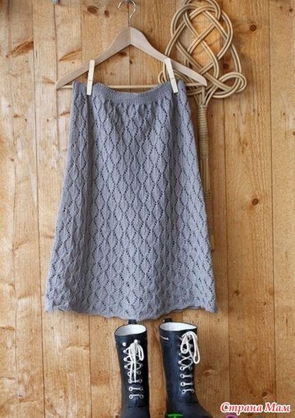 Ажурная юбка на резинке